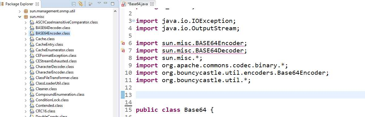 java sun misc base64encoder