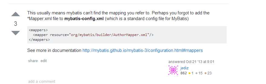 Mapped Statements collection does not contain value for 问题